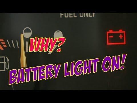 Battery Light On.