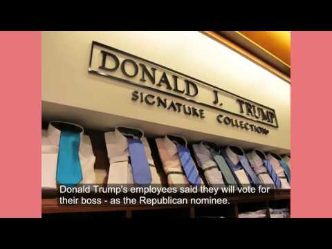 Trump employees said they wiil vote their boss