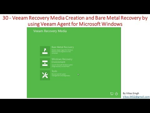 Veeam Advance Training | 30 - Veeam Recovery Media Creation