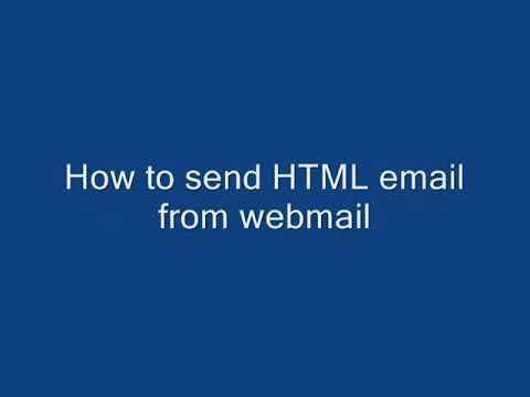 Sending HTML Email Fom Webmail New