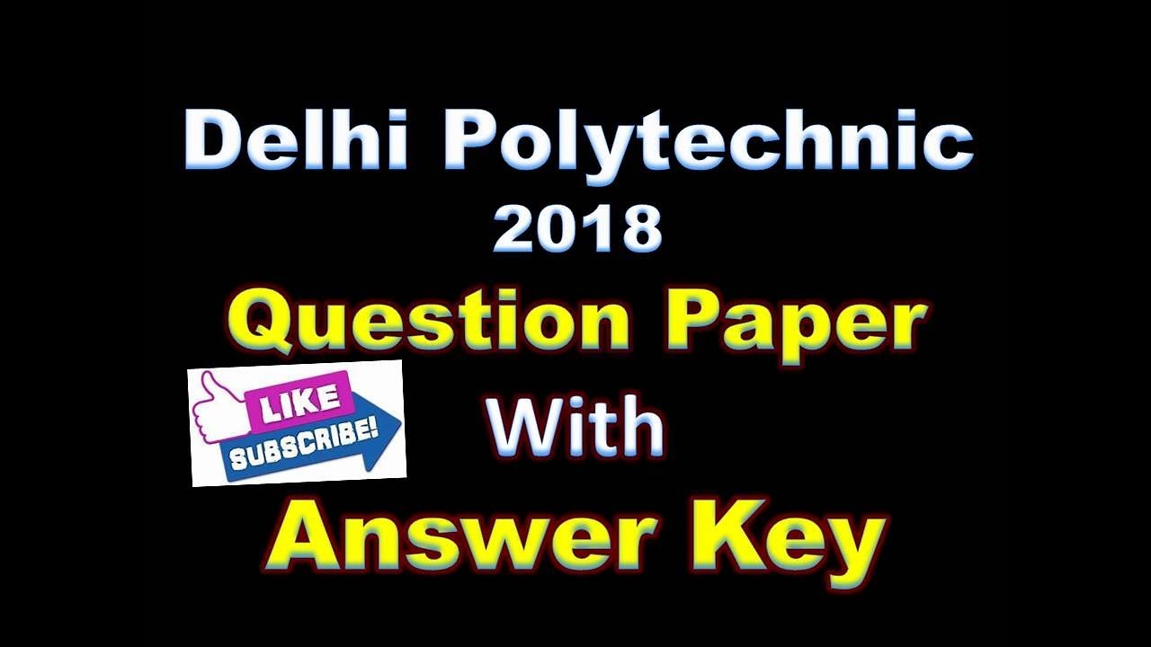 Delhi Polytechnic Question Paper 2014 Pdf In Hindi