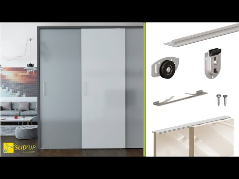 How To Install Sliding Bypass Doors For Wardrobe/closet - SLID'UP 130 - Home Sliding Systems