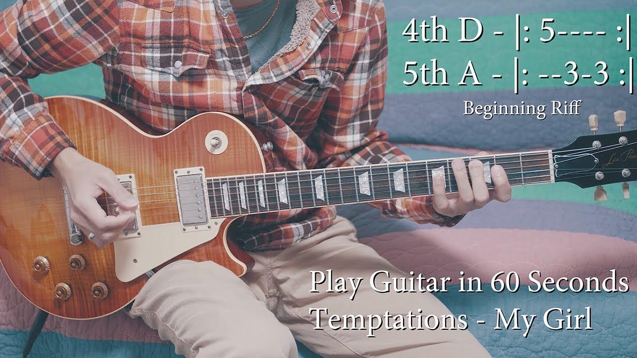 The Temptations My Girl Guitar Coverguitar Lessontutorial W