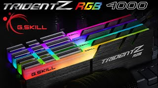 [Cowcot TV] Présentation mémoire DDR4 G.SKILL TRIDENT Z RGB 4000 CL17