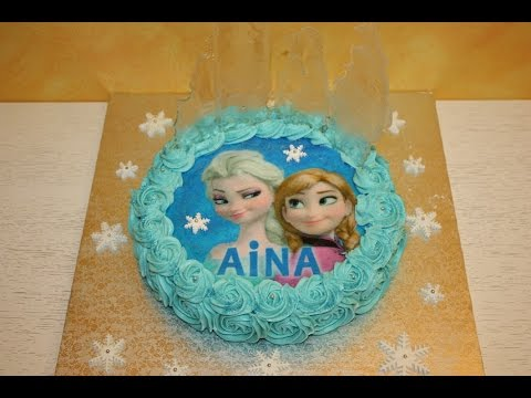 C mo hacer una tarta decorada de frozen youtube for Como decorar una torta facil y rapido