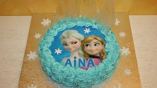 Cómo hacer una tarta decorada de Frozen