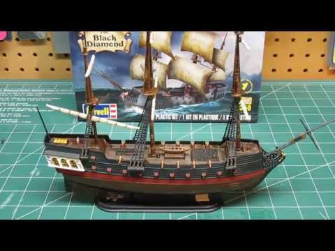 Revell 1/350 Black Diamond Pirate Ship Model Kit Build Up Part 3 Final