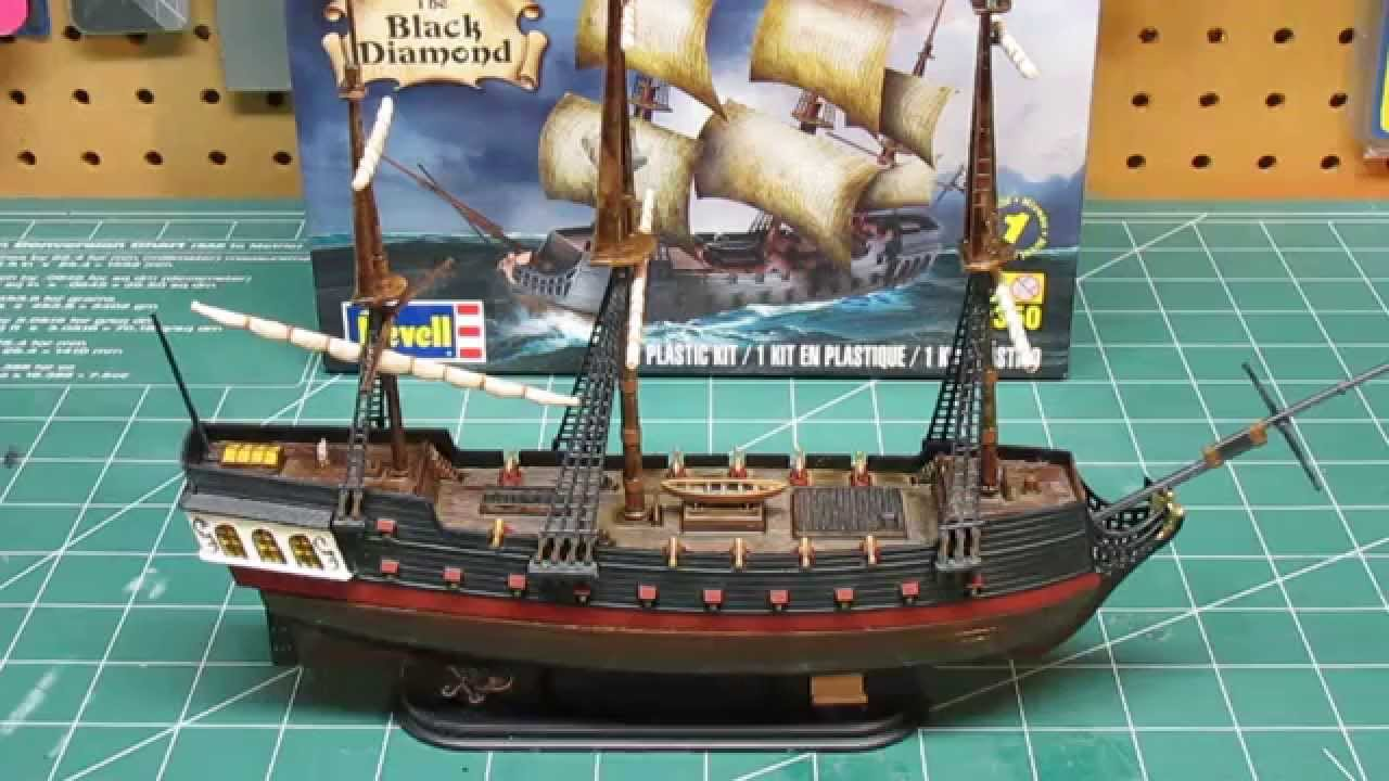 Revell 1350 Black Diamond Pirate Ship Model Kit Build Up Part 3 Final