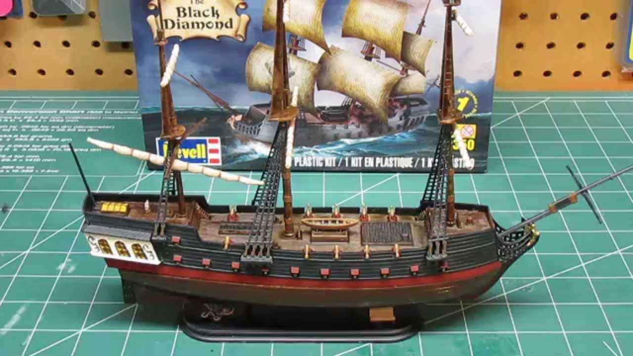 Revell 1/350 Black Diamond Pirate Ship Model Kit Build Up Part 3 Final