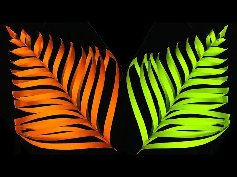 How To Make 3D Paper Leaves making for DIY Home Decor  Wall Decoration Beautiful Craft Ideas