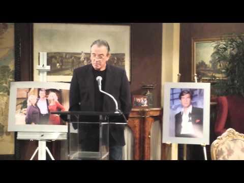 SOAPS.COM: Eric Braeden congratulating Peter Bergman for 25 years on Y&R