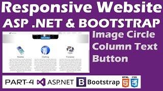 Responsive Website - ASP .NET & Bootstrap - Part 4 - Image Circle, Columns, Thumbnails