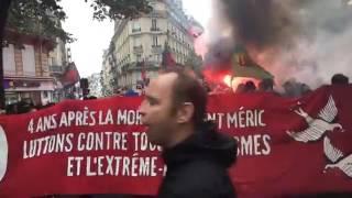 Manifestation Antifa pour Clément 03/06/2017