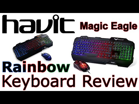 HAVIT Rainbow Backlit Wired Gaming Keyboard And Mouse Combo Review! [2016 Model]