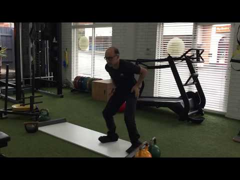 Lateral Movement Exercise on the Slide Board