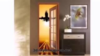 Виниловые фотообои и наклейки на двери с 3D эффектом. http://3d-style.at.ua