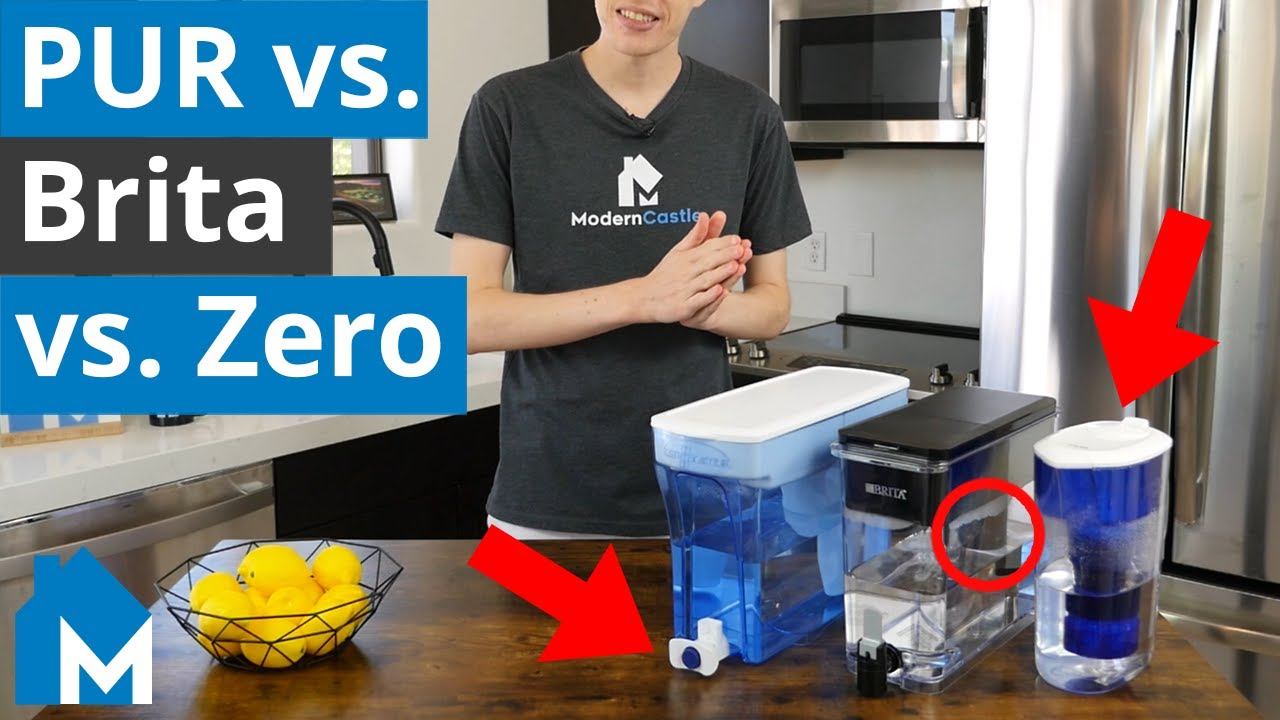 🥤 PUR vs. Brita vs. ZeroWater Filter Comparison — What's the Best Tasting Water in 2020?