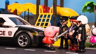 Peppa Pig Police and pirate at school