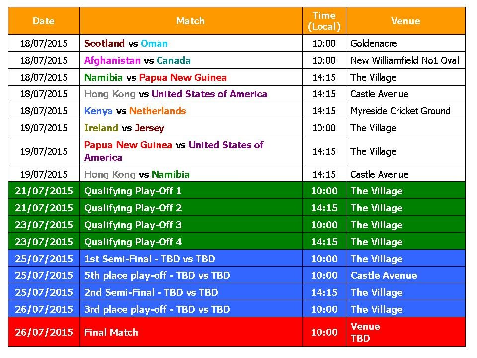 T20 World Cup 2016 Schedule (Qualifier Matches) - YouTube