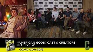 Our Interview with the 'American Gods' Cast and Writers Ends in a Dance Party