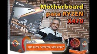 👆 A placa mãe já vem atualizada para Ryzen 3000 !!! GIGABYTE AORUS X470 GAMING 5 WIFI AMD AM4