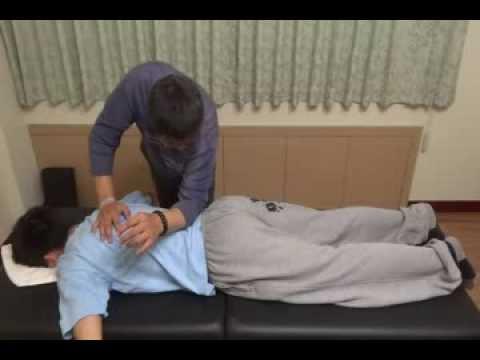 臺南推拿按摩徐師傅背部推拿按摩教學示範 - YouTube