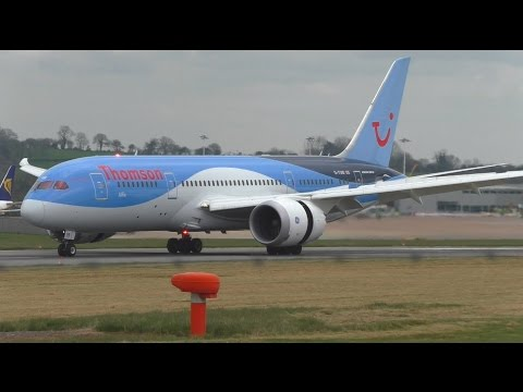FIRST EVER Boeing 787 Dreamliner Landing at Bristol Airport (BRS-EGGD) - Thomson 787 G-TUIB