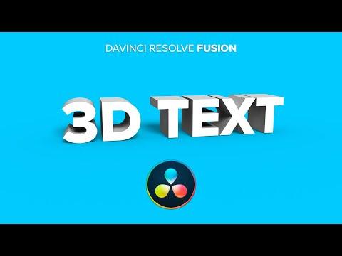DaVinci Resolve Fusion - 3D Text erstellen