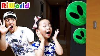 우리집에 외계인이 나타났어요! 리원이의 신비아파트 귀신놀이 고스트 Lighting Alien Balloon