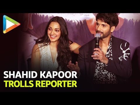 Shahid Kapoor TROLLS Reporter For Asking about KISSING Kiara Advani | Kabir Singh Mp3