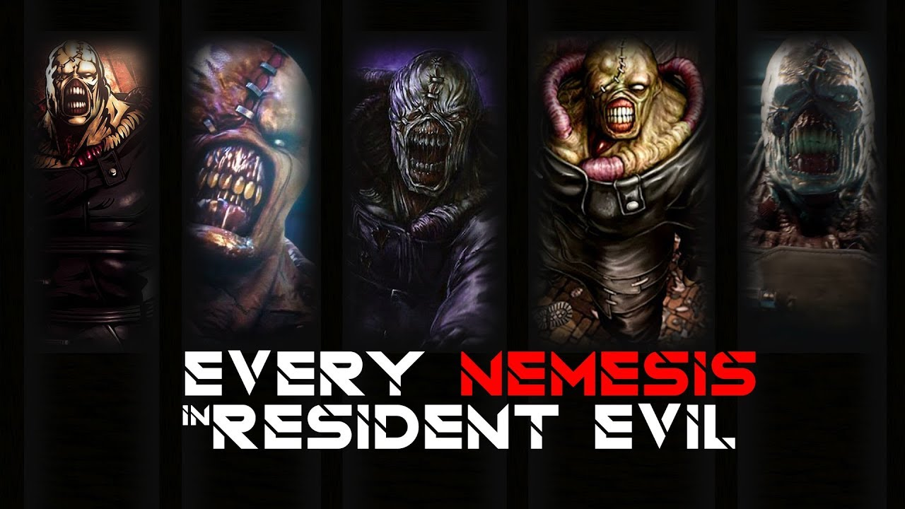 Every Nemesis In Resident Evil Game And His Transformations 1999
