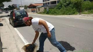 Brotherhood turap lubang jalan hanya 3 minit, kos RM35