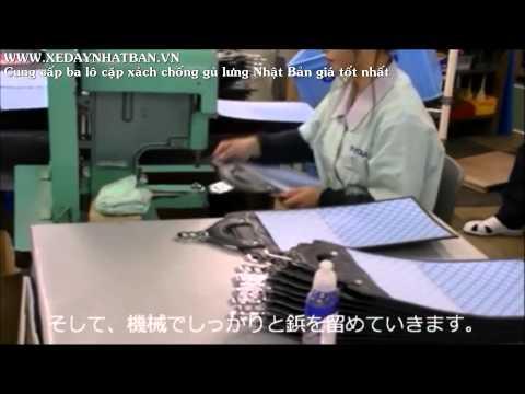 quy trinh sản xuất ba lô cặp xách chống gù lưng học sinh Nhật Bản Randoseru