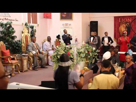 Apostle Dupree leads Moses Song at Holy Temple Holiness Church
