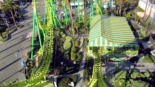 Boomerang front seat on-ride HD POV Knott's Berry Farm
