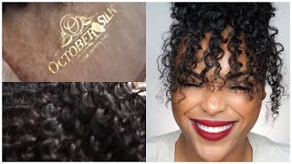 Quality Curly Extensions |Satin Deep Coil Curl | October Silk Show and Tell