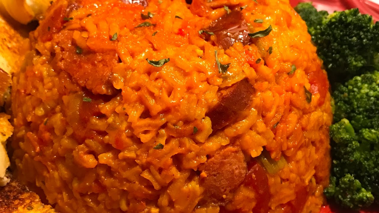Easy Spanish Yellow Rice & Beef Sausage My way . - YouTube