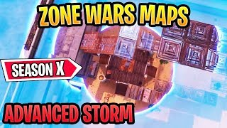 Best Season X Zone Wars Maps With Codes *NEW STORM* Fortnite Creative Zone Wars