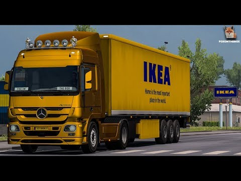 Mercedes Actros Mp3 Stock Sound V3 | Euro Truck Simulator 2 (ETS2 1.30 Mod)