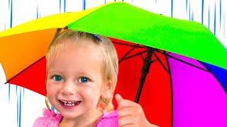 Rain Rain Go Away - Children Song by Maya and Mary