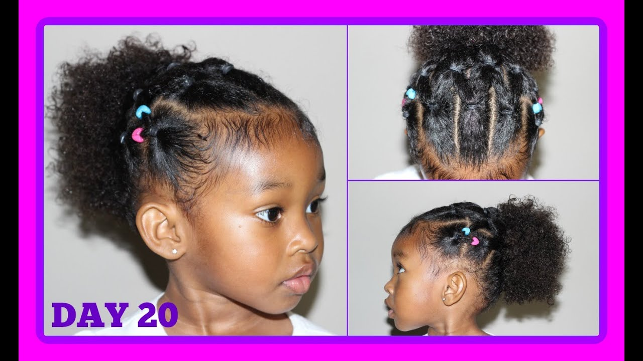 cute hairstyle for curly hair kids | 30 days of hairstyles - day 20
