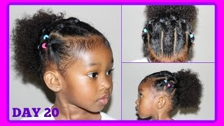 Cute Hairstyle for Curly Hair Kids   30 Days of Hairstyles - Day 20