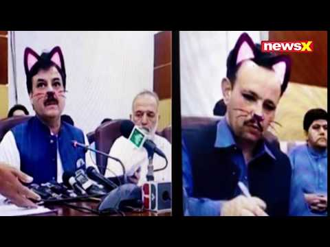 None - Pakistan Minister Accidentally Uses Cat Filter During Press Conference