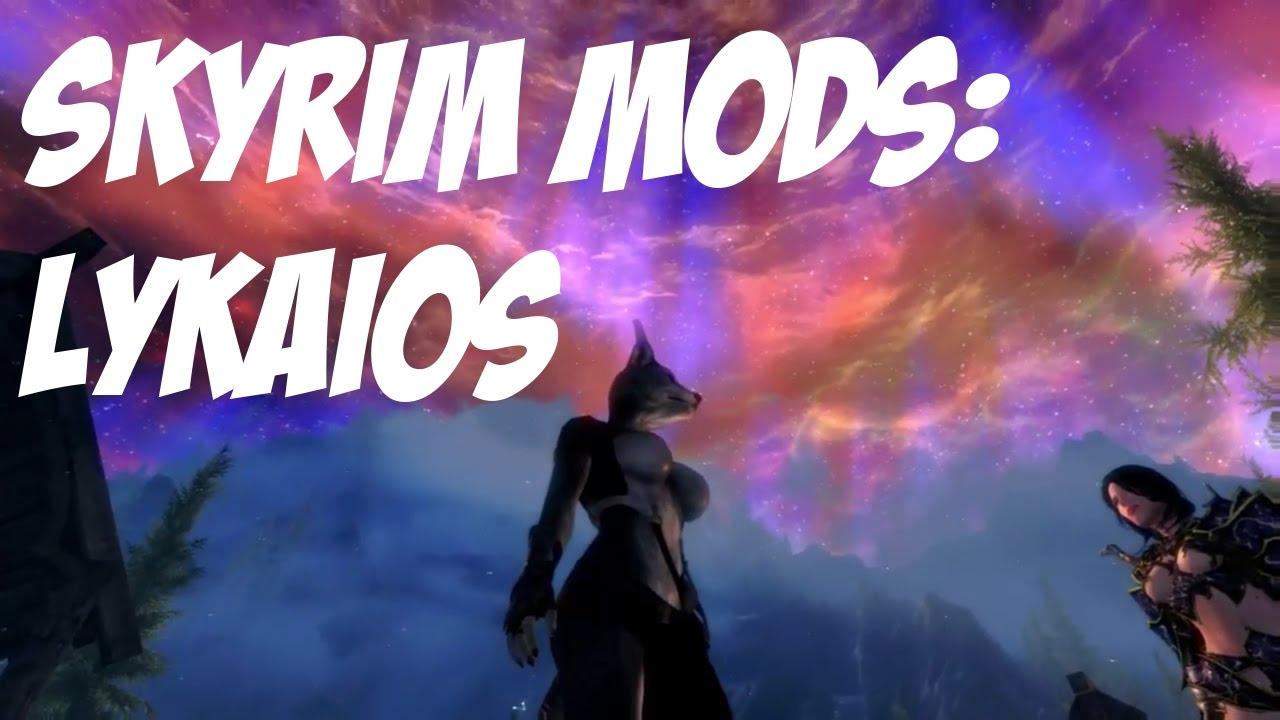 SKYRIM MODS - WEREWOLF RACE!! LYKAIOS (Xbox One)