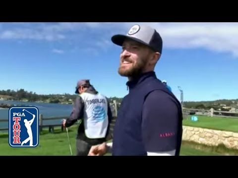Justin Timberlake Nearly Jars The Cup For An Ace At AT&T Pebble Beach