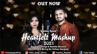 Valentine Mashup 2021   vishu Dangi   Nandita Binokhe   2021 new songs   Bollywood mashup 2021 