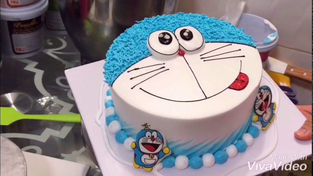 Cách làm bánh kem doremon đơn giản đẹp #1- how make doremon birthday cake
