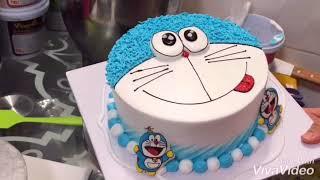 Cách làm bánh kem đơn giản đẹp - how make dormemon birthday cake