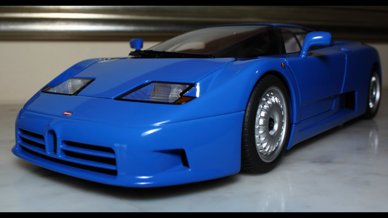 1 18 1991 bugatti eb 110 gt blue sn 0255 by autoart fcaminhagarage hd youtube. Black Bedroom Furniture Sets. Home Design Ideas