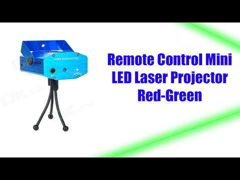 Remote Control Mini LED Laser Stage Lighting Red-Green DJ Disco Party Club Projector [REVIEW]